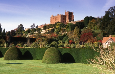 Powis Castle, Welshpool, Powys, Wales. October copyright Charles Hawes, Veddw, for thinkingardens