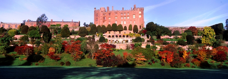Powis Castle, Welshpool, Powys, Wales. October copyright Charles Hawes for thinkingardens